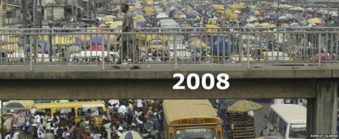 Bridge in Oshodi market, Lagos Nigeria - 2008