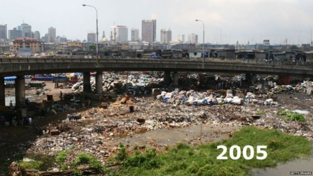 Flyover in Lagos Nigeria, pictured in 2005