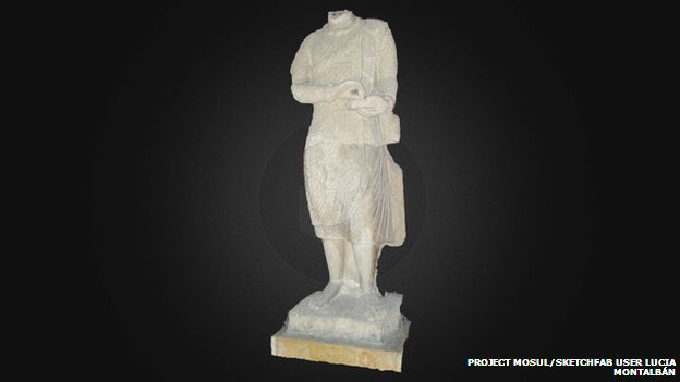 Project Mosul and a reconstructed priest statue using cyber-archaeology