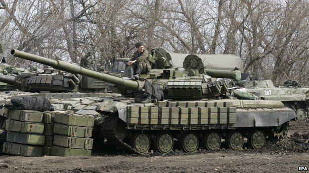 Pro-Russian rebels in Donetsk