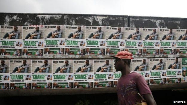Nigerian election posters