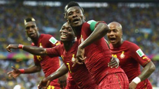 Ciyaaryahan Asamoah Gyan ee u dhashay waddanka Ghana oo noqday ciyaaryahanka ugu gool dhalinta badan Koobka Adduunka