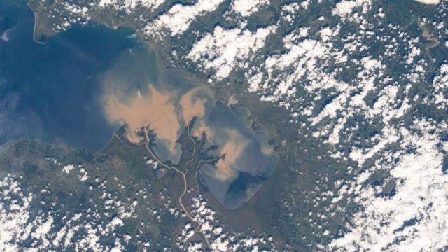 Río Atrato en Colombia, visto desde la EEI