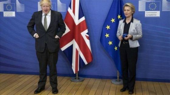 Boris Johnson and Ursula von den Lane