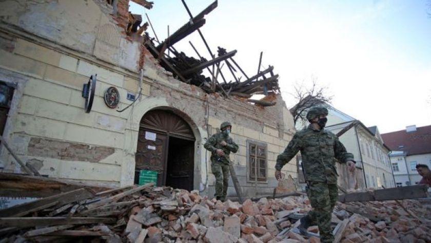 Earthquake wreckage in Croatia