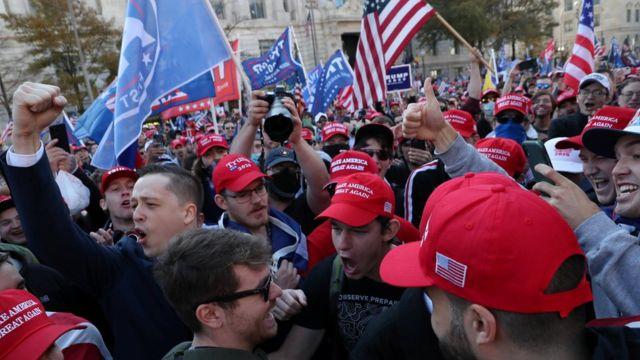 Marcha pro-Trump en Washington DC el 14 de noviembre