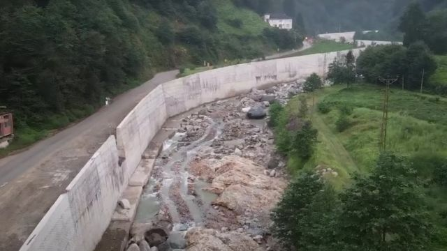 Karadeniz'de yapılan bir hidroelektrik santral