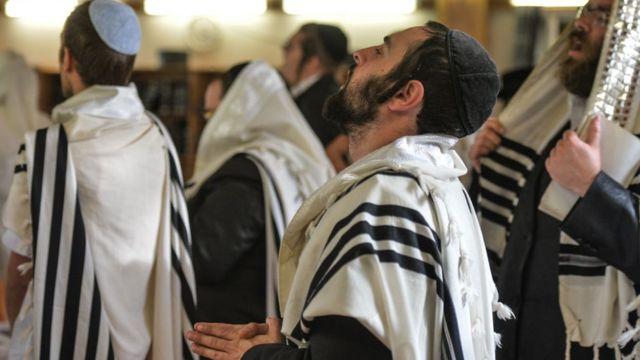 Jewish religious ceremonies. Archival photo