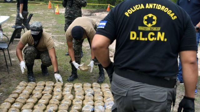 Incautación de droga en Honduras
