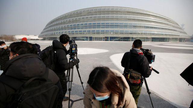 2021年1月22日在中国北京举办的媒体巡回演出中,媒体记者在2022年冬季奥运会的国家速滑椭圆形比赛中被看到。