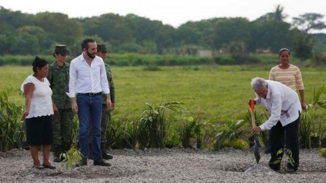 Nayib Bukele y López Obrador