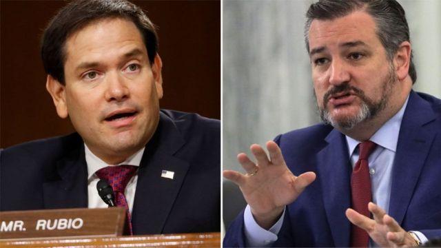 Marco Rubio iyo Ted Cruz waa siyaasiyiin caan ah oo ka tirsan xisbiga Jamhuuriga