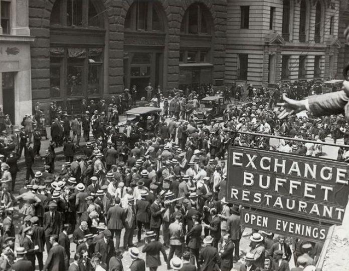 Bolsa de Nueva York en 1900.