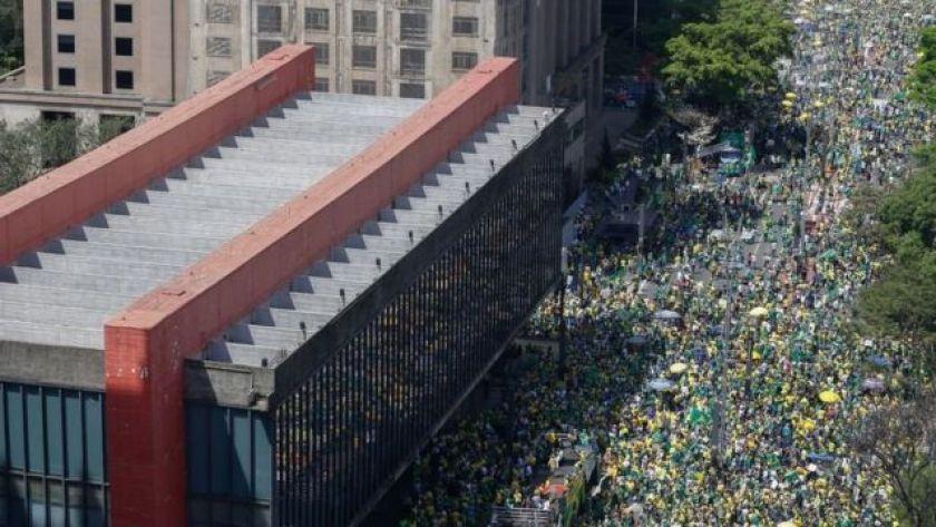 September 7 protest on Avenida Paulista