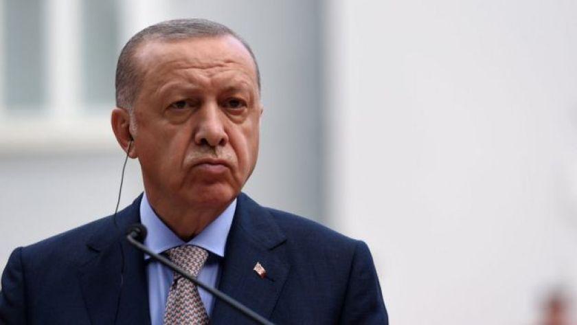 Turkish President Recep Tayyip Erdogan speaks during a press conference in Cetinje, Montenegro (28 Aug 2021)