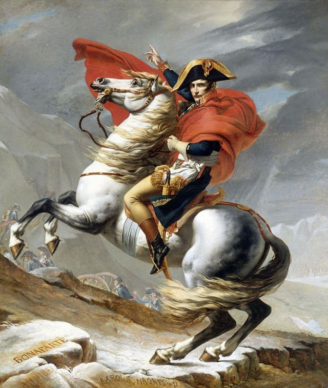 Бонапарт на перевалі Сен-Бернар, картина Жака Луї Давида