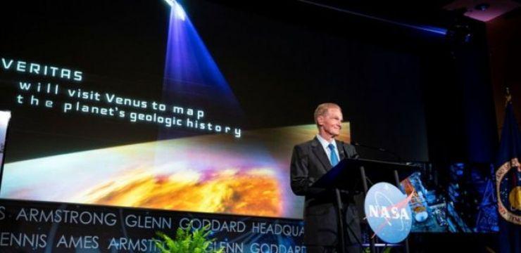 Bill Nelson speaks at Nasa HQ in Washington, DcC 2 June 2021