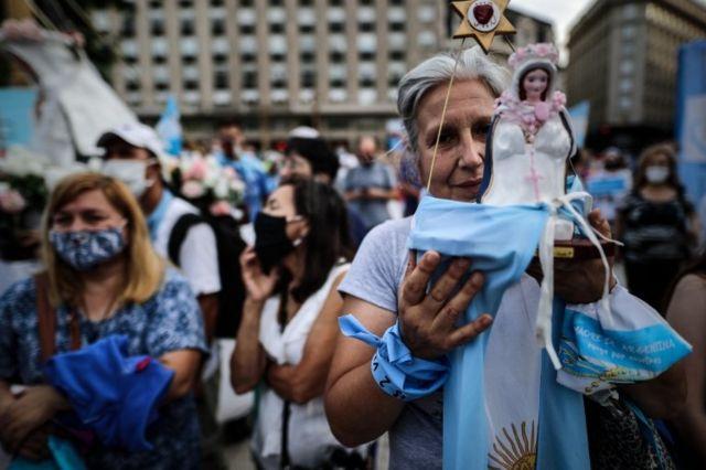 Ato contra aborto em Buenos Aires