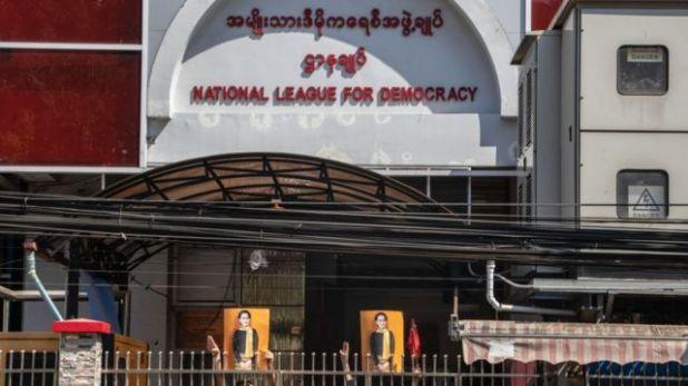 مقر حزب سان سو تشي دهم الثلاثاء.