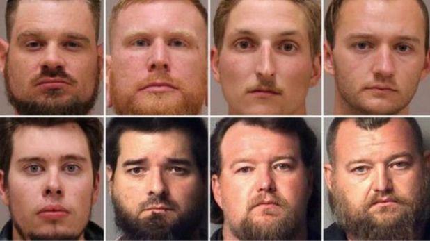 صور لثمانية أشخاص من المشتبه بتورطهم في التخطيط لاختطاف حاكمة ميشيغان