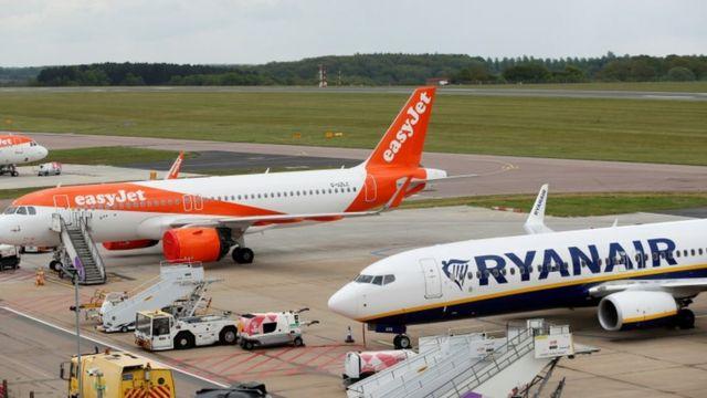 Ryanair Boeing 737 та Easyjet Airbus A320