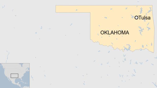 Mapa de localización de Oklahoma