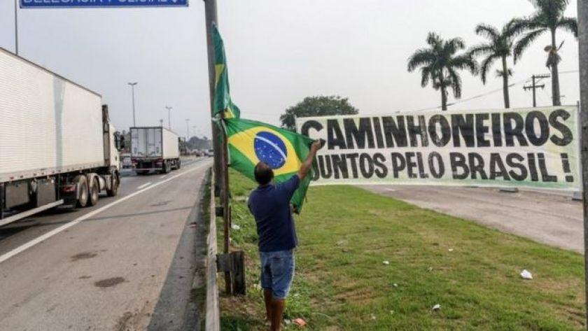 Truckers in Rio de Janeiro