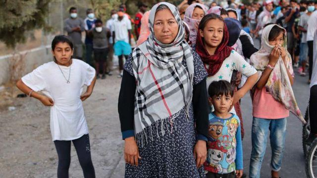 Solicitantes afganos de asilo en Grecia.