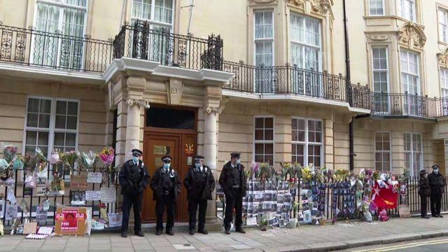Embassy of Myanmar building in London.