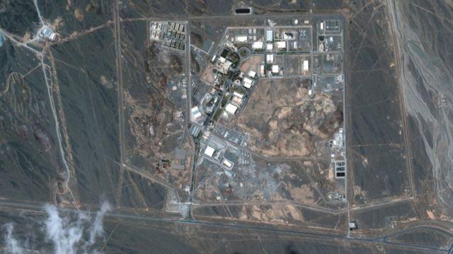 صورة عبر الأقمار الاصطناعية لمنشأة نظنز النووية لتخصيب اليورانيوم