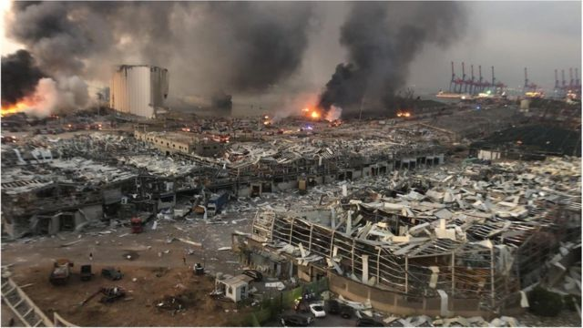 Lebanon before and after: Beirut explosion, oda bomb blast wey ...