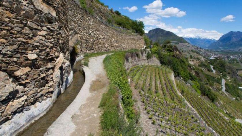 Valais mountain channel