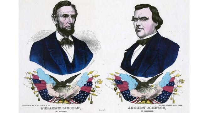 Cartel de la campaña republicana en 1864