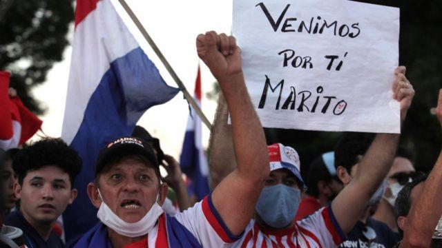 Protestas en Paraguay contra el gobierno en marzo de 2021