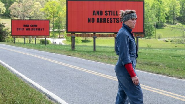 "Frances McDormand won her second Academy Award for her portrayal of the role of Mother in a movie ""Three billboards outside Ebbing, Missouri"""