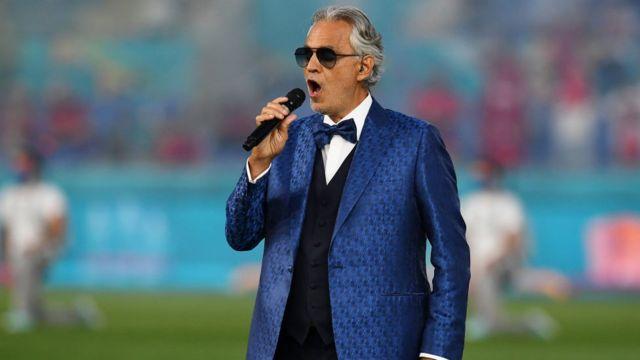 Andrea Bocelli sing di iconic 'Nessun Dorma' song