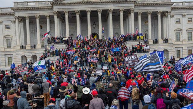 Protesta en el Capitolio el pasado 6 de enero.