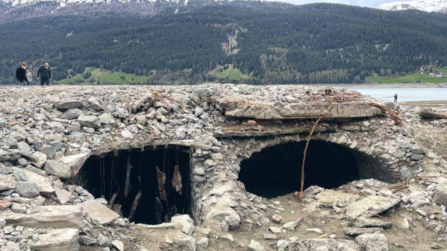 Развалины деревни Курон