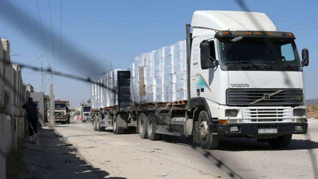 غزہ، امدادی سامان