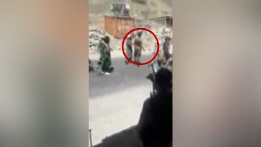 Image shows the murder of a man in the Panjshir province of Afghanistan
