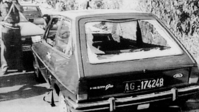 The car in which Rosario Levatino was killed