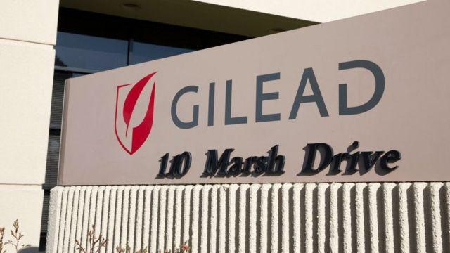 Logo de Gilead en California.