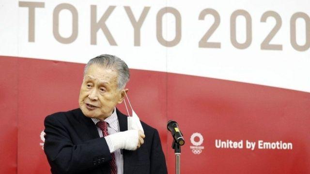 Yoshiro Mori, Chairman of the Organizing Committee overseeing the Tokyo Olympic Games