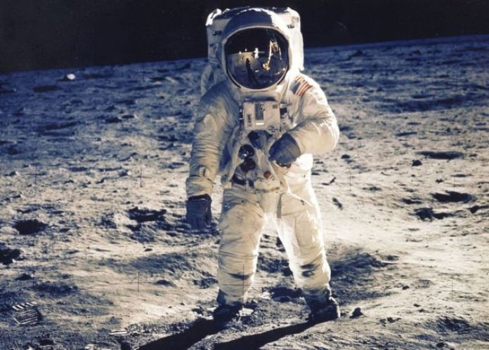 Edwin E. Aldrin Jr. en la Luna.