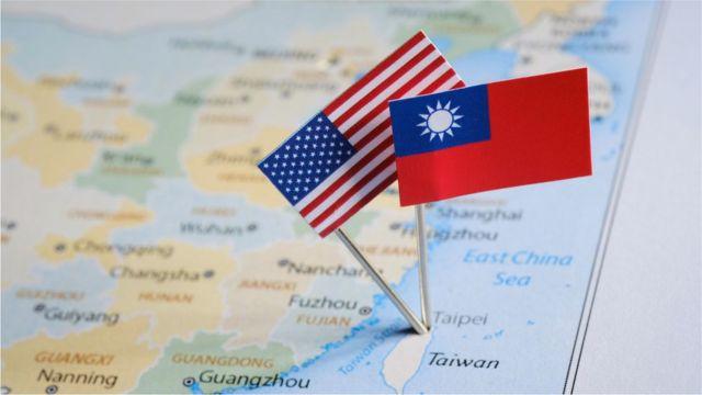 台湾和美国地图