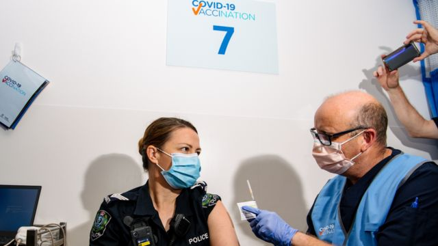 Australia started a national vaccination plan for the Coronavirus Disease 2019 (COVID-19) vaccine on Monday.