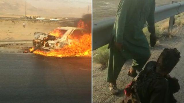 ایراني پولیس: د افغان کډوالو پر موټر مو ډزې کړې; خو موټر د ډزو له ...