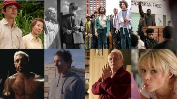 Promotional images of eight films nominated for the Oscar in the best film category.