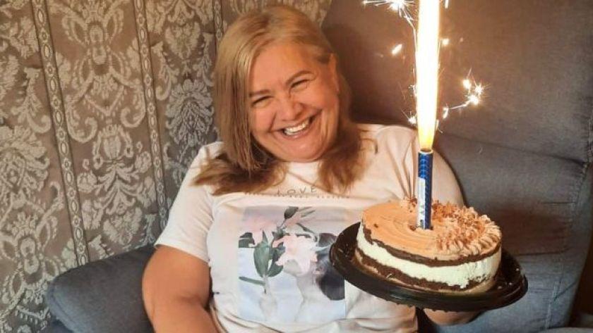 Martha Sepúlveda during birthday