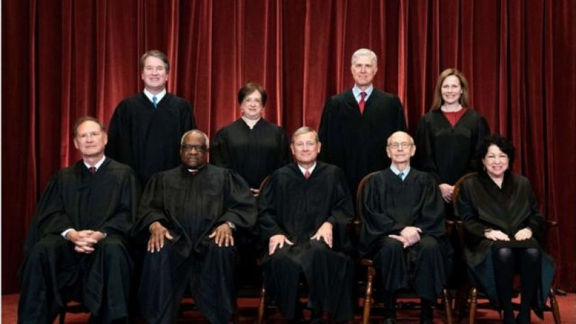 Nine members of the United States Supreme Court